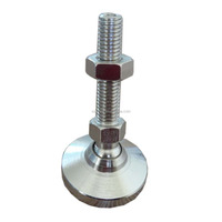 """Machine Leveling mounts/feet/pads, Stainless Steel, 1/2-13 x 2"""" thread"""