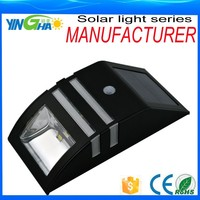 zhongshan future light manufacturing black solar sensor led security outdoor wall light