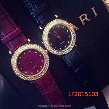 2015 New Gold stainless steel watches Luxury Brand Women Watch calendar diamond watches