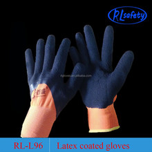 grip latex hand glove with black liner