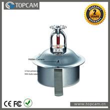 960H CCD Effio 700TVL Covert Fire Sprinkler Color Hidden CCTV Surveillance Camera