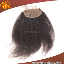 Wholesale Human Hair Light Yaki Lace Front Closure Brazilian Virgin Hair 4*4 Lace Top Closure