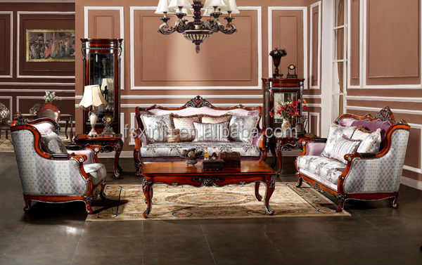 French Fabric Wooden French Furniture Sofa Living Room Furniture Made In China Turkish Sofa