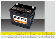 Hot export high quality JIS standard 12V 60AH Maintenance free Automotive Lead acid CAR Battery