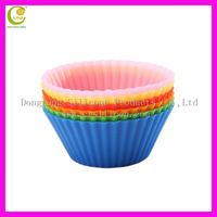 Wholesale Cute-design reusable silicone baking cups ,cupcake cases,cupcake holders