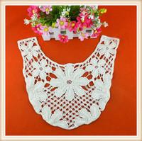 Fashion design cotton water soluble Neck trim designs for ladies cotton dress
