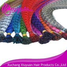 Luxury new arrival 6a Grade wholesale 8-13 inchs real bird feather hair extensions