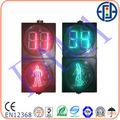 300mm LED Pedestiran Semáforo con 2 dígitos temporizador de cuenta regresiva