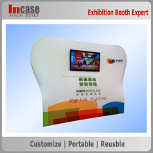 Curved art tension fabric exhibition display stand