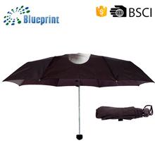 Creative manual open 3 fold uv protection umbrella rain men