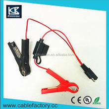Audited factory with fused 5A large alligator clip car cable SAE to 5 a alligator clip