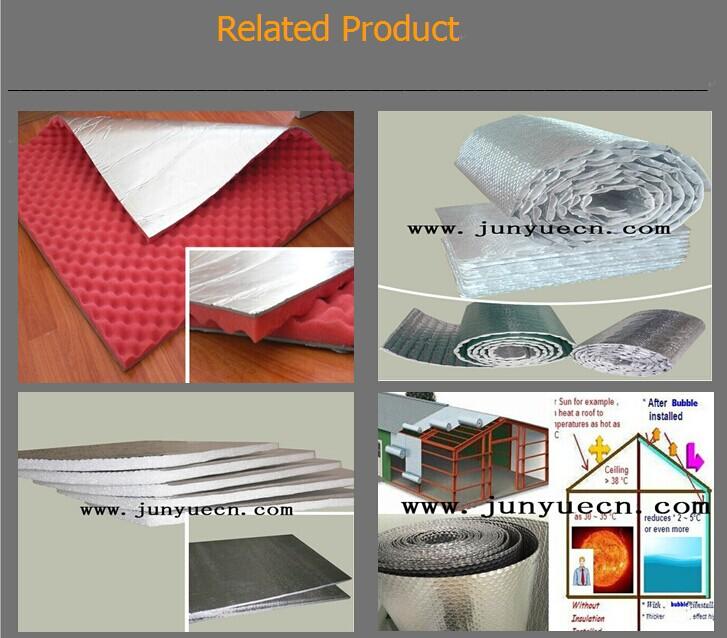 Poly thyl ne mousse isolation rouleau de papier d 39 aluminium sous couche - Mousse phenolique isolation ...