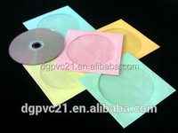 High quality clear plastic cd cover/PVC CD double sleeve/cd packaging