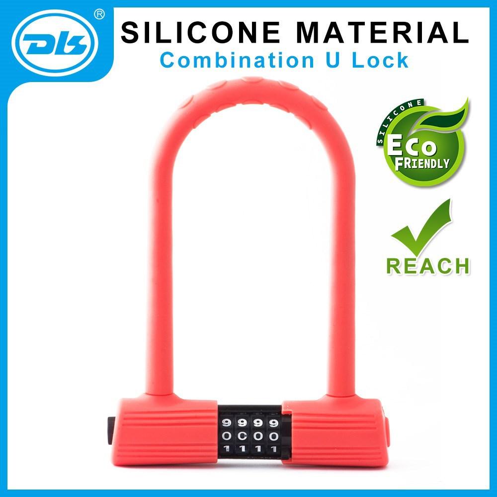 silicone material lock combination u lock bike lock buy silicone lock u shackle lock bicycle. Black Bedroom Furniture Sets. Home Design Ideas