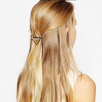 Supply Geometric Square Metal Glossy Hairpin Hair Accessories, Gold&Sliver Hairpin X8-016
