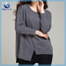Fashion clothing Women's Lady long Sleeve sweaters Casual Loose Blouse Tops plus size women sweater