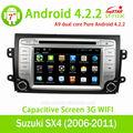 Coche reproductor de radio para suzuki sx4 4.2+3g+wifi+dvd+radio+bt android de la agenda......