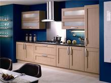 New high gloss plywood kitchen cabinet design provided quartz stone