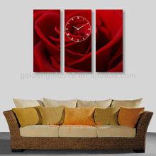 Customizable logo quartz home decorative promotion wood wall clock