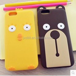 Silicone kroea bear mobile phone case for iphone6 for iphone 6 plus korea design case