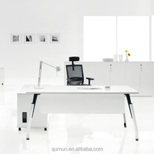 best selling China manufacturer cheaper office melamine executive desk with height adjustable leg