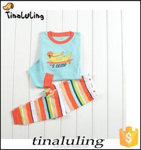 Fashion! Crocodile printed boys and girls kids pajamas cotton wholesale funny pajamas