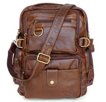 Drop Shipping Leather Backpack,Messenger Bag Day Tote,Hand Bag For Men #7042
