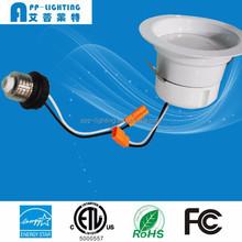 ETL & Energy Star LED Recess lighting 4inch LED Retrofit trim 12W 3000K