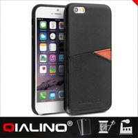 QIALINO Plain Handmade Cow Leather Flexible For Iphone 6S Case 3D Sublimation