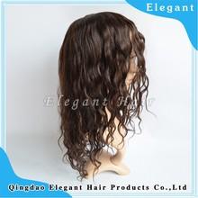 qingdao18 inch loose wave indian remy hair mono lace human hair women wig