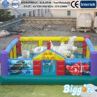 Ocean Theme Amusement Park Spongebob Shark Playground Inflatable Fun City