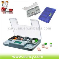 Timer Tablet Pills Reminder Medicine Box with 24 Hours Alarm Clock