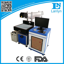Non-metal printing lables/ buttons CO2 laser marking machine price for sale