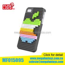 Diamond blocks iPhone 4S phone case black apple
