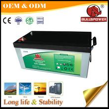 Trade assurance maintenace free long life telecom battery 12v250ah