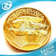 High Quality 18k custom antique metal gold coin