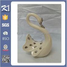Porcelain decor swan