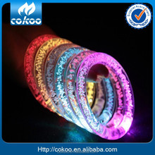 2015 Hot Promotional Logo Party Acrylic Led Bracelet Multicolor Led Flashing Bracelet,Sound Activated LED Bracelet For Club