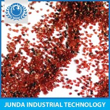 Good qualified Specific Weight 4.1 g/cm3 raw garnet for aluminium surface painting / blasting