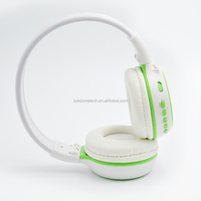 China shenzhen wholesle headphones wireless best on sale with mp3 mic colorful LCD with colorful led light for phones