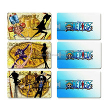 Cartoon printing Credit card model USB 2.0 Memory Stick Flash pen Drive 4GB 8GB 16GB 32GB