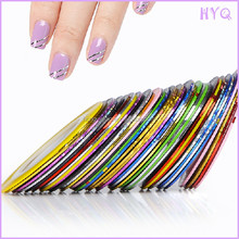 Wholesale Mixed Colors Rolls Striping Tape Line DIY Nail Art Decoration Sticker Minx Nail Sticker Patch