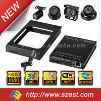 4CH 3G Vehicle 1080P Mobile DVR with WIFI G-Sensor GPS