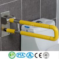 Nylon folding up handicap toilet grab bars