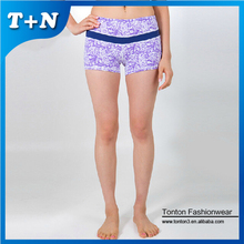 women tight fit sexy blue camouflage cargo shorts yoga shorts