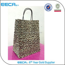 Fairy Leopard Print Paper Shopping bags Retail Gift Merchandise