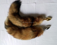 Raccoon dog tail Butt PlugStainless steel