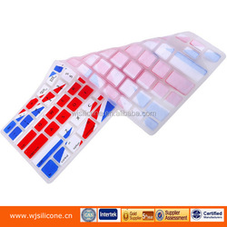 Ultra thin dustproof silicone membrance keyboard case with Multi color for laptop case