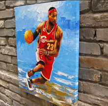 High quality celebrity portrait oil painting of Lebron James 56224
