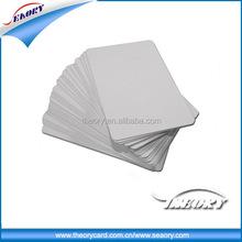 High quality CR80 blank pvc ID card/white pvc card from China
